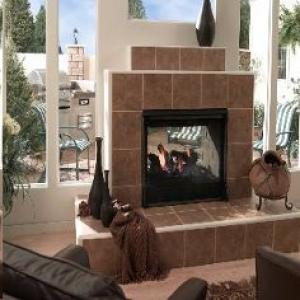 Heat-n-Glo Twilight II Indoor/Outdoor See-through Gas Fireplace