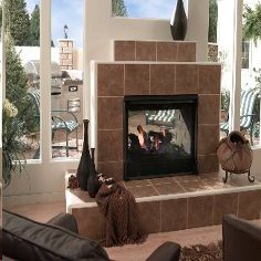 Heat-n-Glo Twilight II Indoor/Outdoor See-through Fireplace