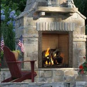 Castlewood Wood-burning Outdoor Fireplace