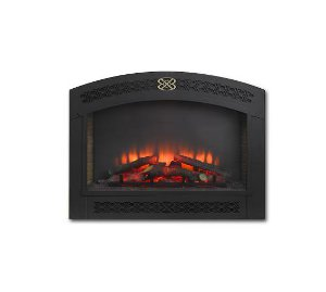 "Built-in 34"" Gallery LED Electric fireplace with  Full Arched Front"