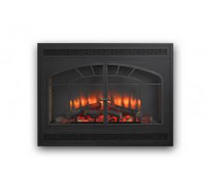 "Built-in 34"" Gallery LED Electric fireplace with Arched Door Front"