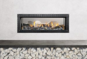 Heat-n-Glo Mezzo See-Through Gas Fireplace