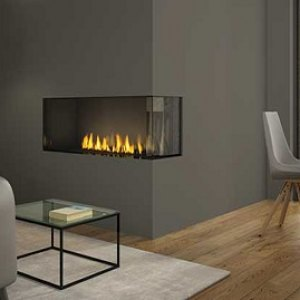 Regency Chicago Corner 40 two-sided Gas Fireplace
