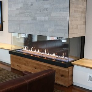 Heat-n-Glo Foundation Bay Style Gas fireplace
