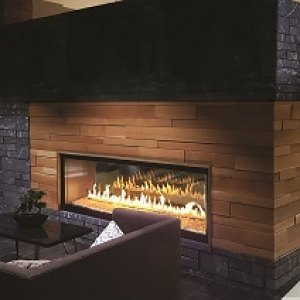 Heat-n-Glo Foundation Series See-Through Gas Fireplace
