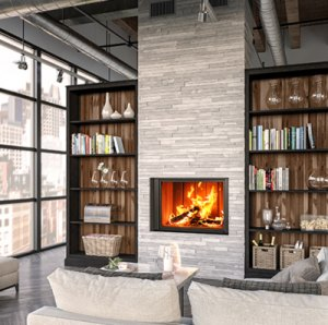 Renaissance Uptown 600 Wood-Burning Fireplace