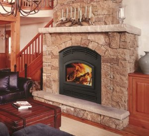 Quadra-Fire Pioneer-III Wood-Burning Fireplace