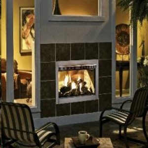 Indoor Outdoor Fireplace Double Sided Native Home Garden